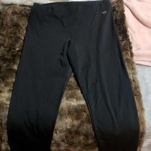 Pink silky leggings